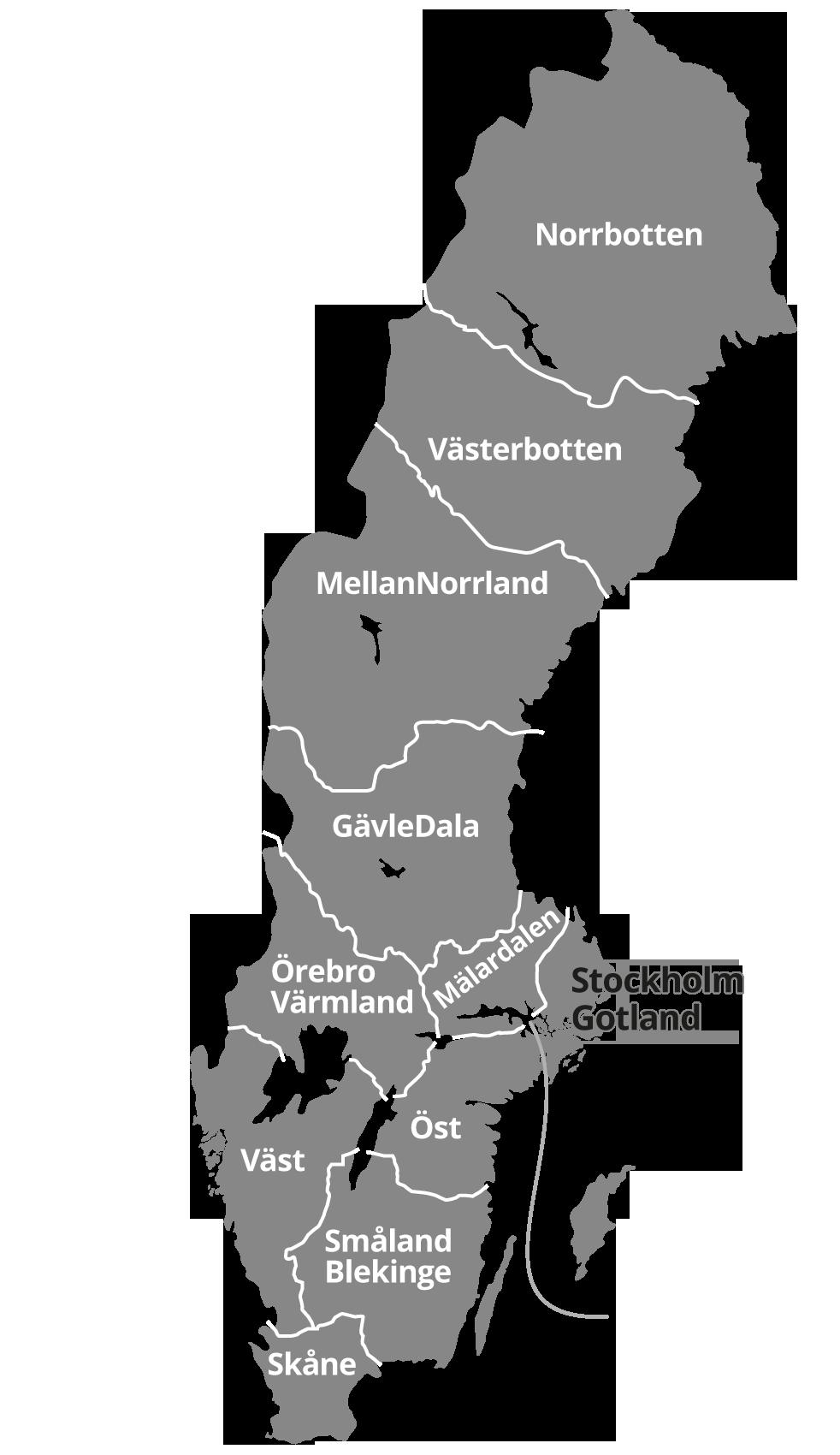 Byggnads regioner